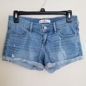 Hollister Distressed Light Wash Jean Shorts